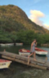 Kanoen door de mangrove van Curacao