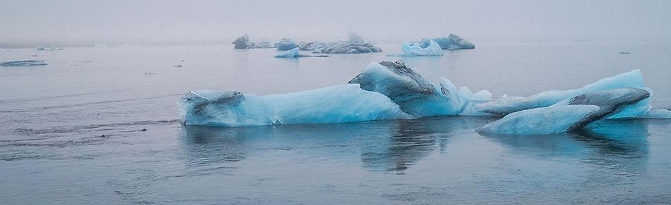 Gletsjermeer Fjallsárlón in IJsland