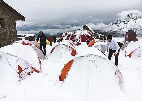 Overnachten in het basecamp van de Kilimanjaro