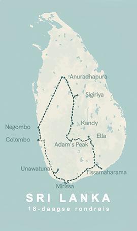 Dé ultime route om rond te reizen door Sri Lanka