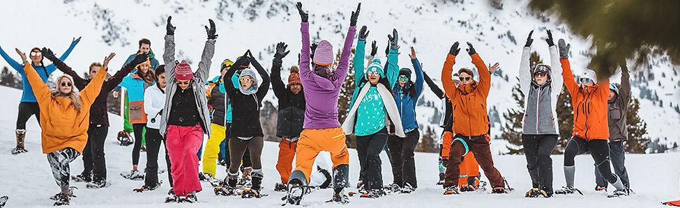 Maak een hike met sneeuwschoenen in de bergen van Obertauern