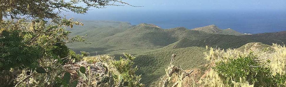 Christoffelberg beklimmen in Curacao