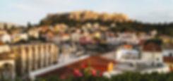Warme stralen zonneschijn in Athene en Mykonos