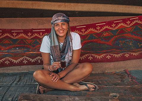 Slapen bij de Bedouinen in Wadi Rum Jordanië