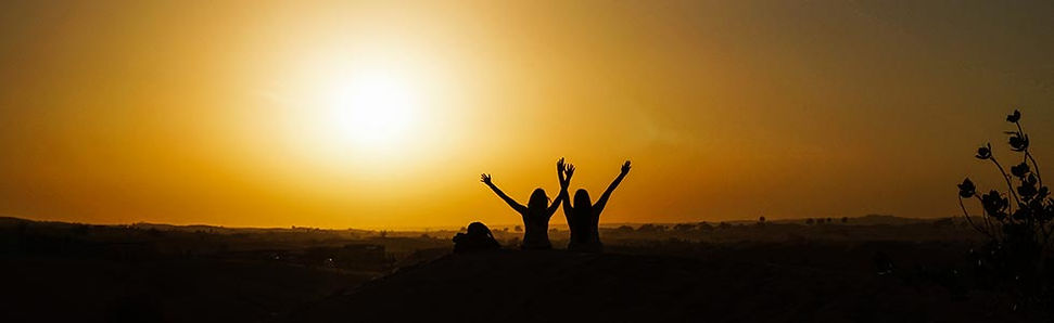 Desert Safarie met zonsondergang in Dubai