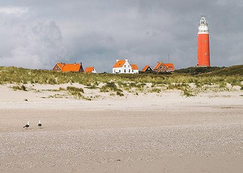 De Eierlandse vuurtoren van De Cocksdorp in Texel