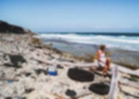 Strandjutten op de houtjesbaai in Curacao