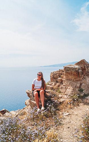 Uitzicht vanaf de vuurtoren in Mykonos
