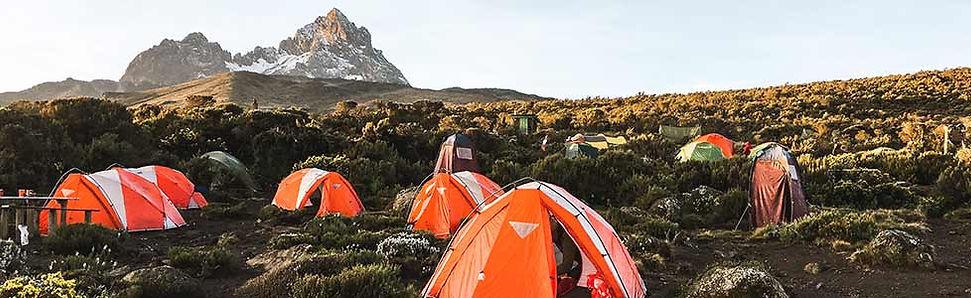 Overnachten tijdens beklimming Kilimanjaro