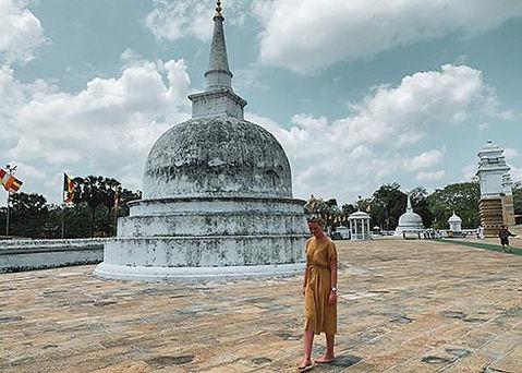 Bezoek aan Stupa's in Anuradhapura