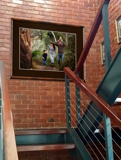 Family Wall Portrait In Stairwell Adelaide