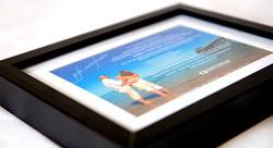 Framed Gift Certificate