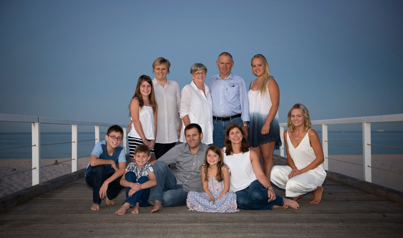 Whole Family Beach Portraits