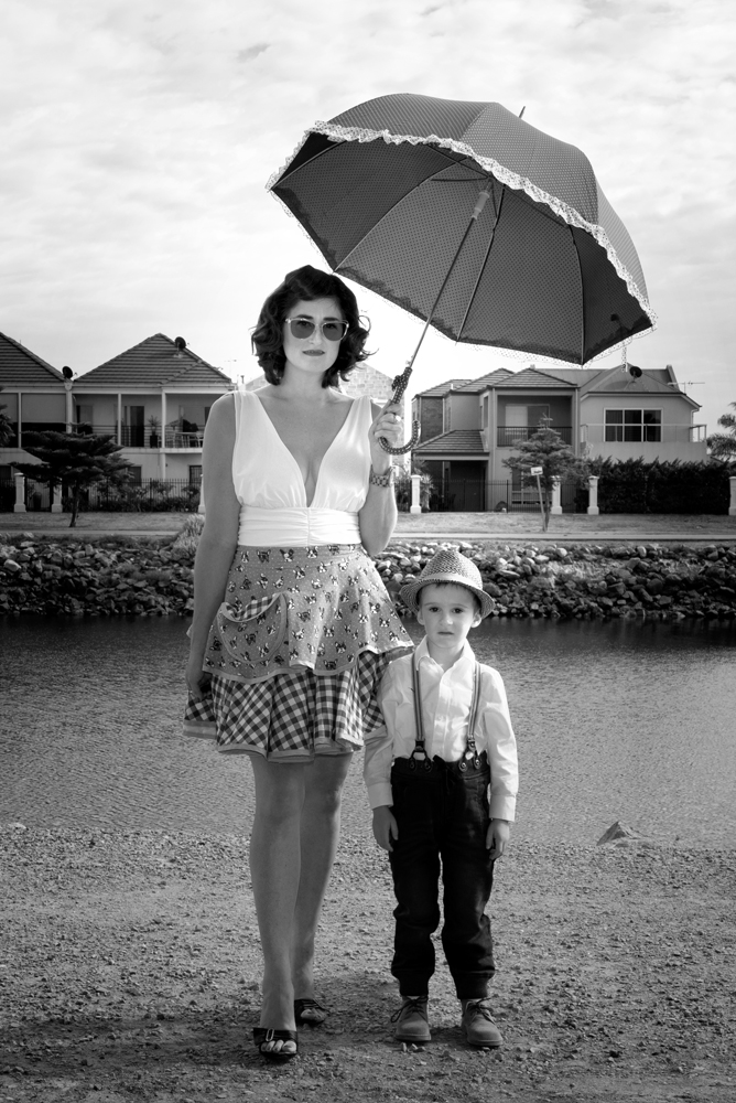 Port Adelaide Mother Son Portrait