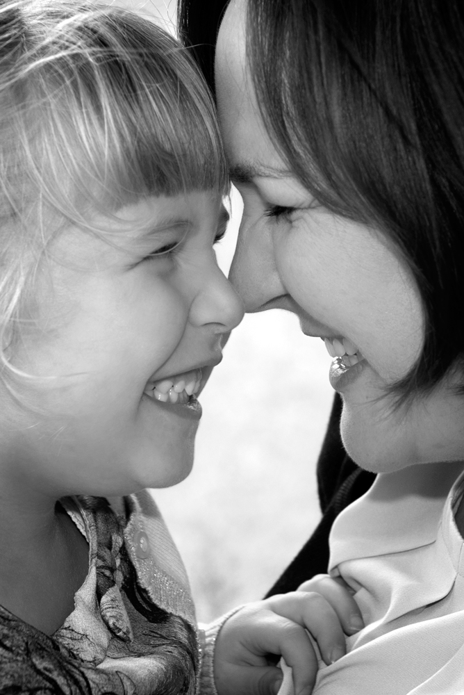 Mother And Daughter Happy Portraits