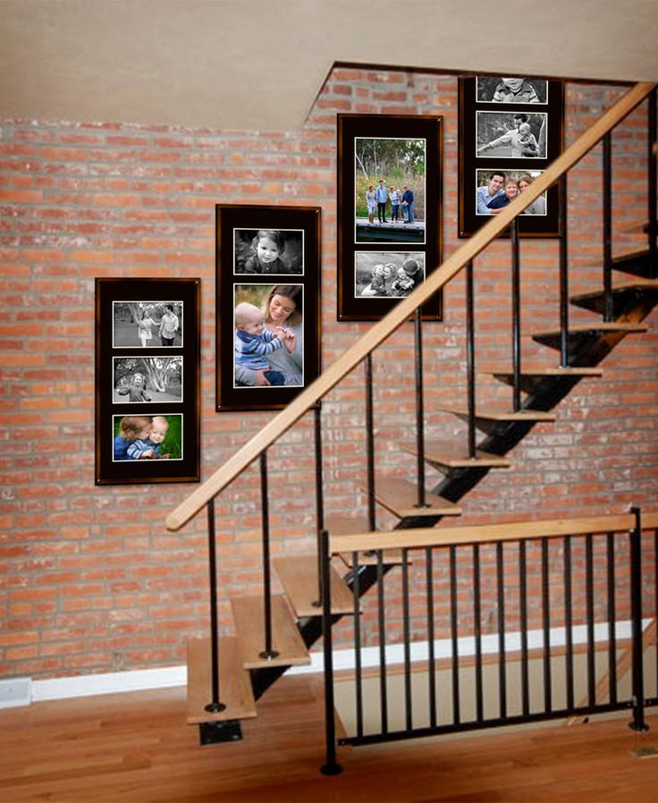 Wall Art Gallery In Stairwell