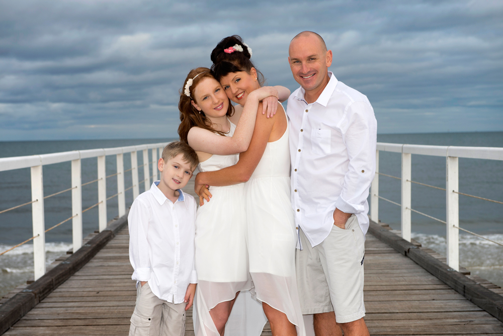 Happy Family Beach Portraits