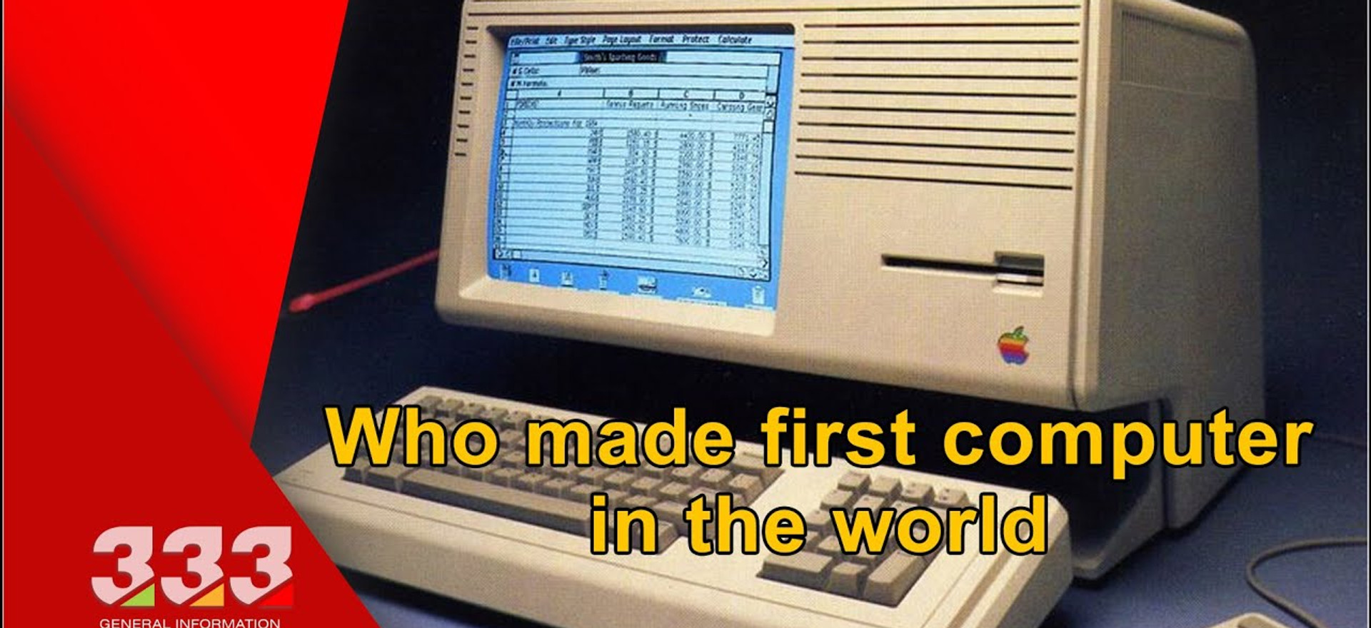 THE HISTORY OF THE COMPUTER