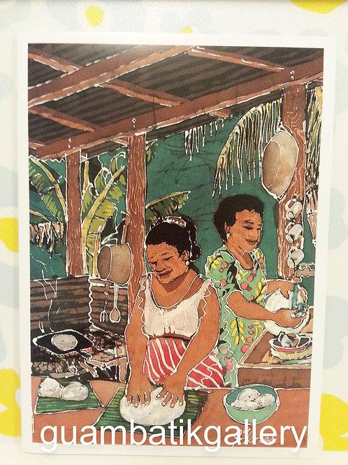 Print: Batik Making Tatiyas 5X7 Blank Card