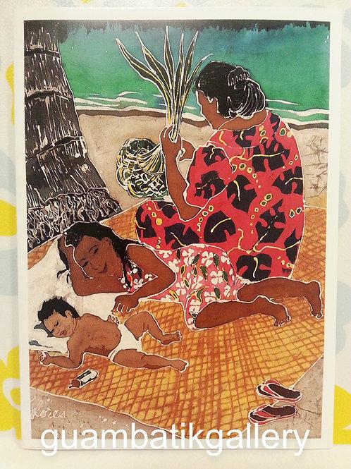 Print: Batik Weavers 5X7 Blank Card