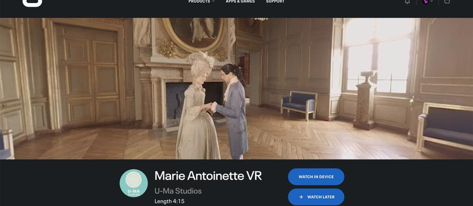 Marie Antoinette VR launches on Oculus TV!