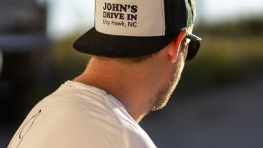 Black and White Trucker Hat  | John's x Katy Spore Collect