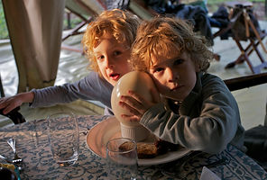ostrich egg, egg, boiled, breakfast, fun, kids, camping, Kenya, www.davesimpsonsafaris.com