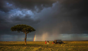 www.davesimpsonsafaris.com, Kenya, camping, safari, great, fun, private, exclusive, rainbow, drinks, view, storm, Maasai Mara.