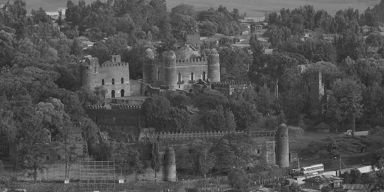 www.davesimpsonsafaris.com, Ethiopia, Gonder, castle, Fasiladas, safari, people.