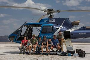 helicopter, Kenya, Suguta, www.davesimpsonsafaris.com, safari, camping