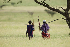www.davesimpsonsafaris.com, Maasai, walking, spears, camping, safari, Tanzania