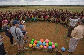 school, visit, soccer balls, play, learn, Samburu, Kenya, safari, camping, local, www.davesimpsonsafaris.com, fun