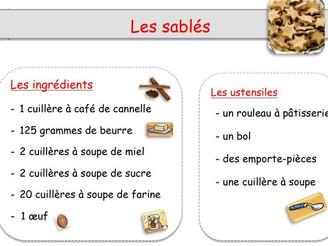 Atelier cuisine : les sablés