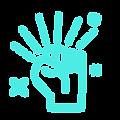 Empowering raised hand icon