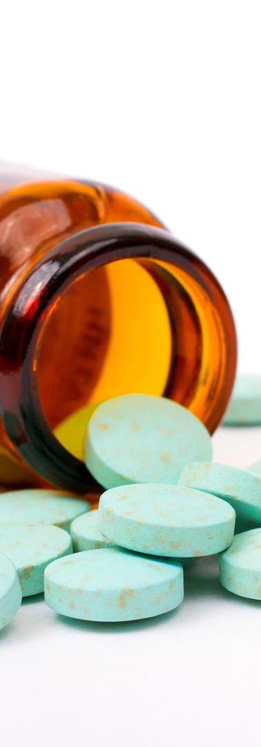 薬剤師ボトル内の丸薬