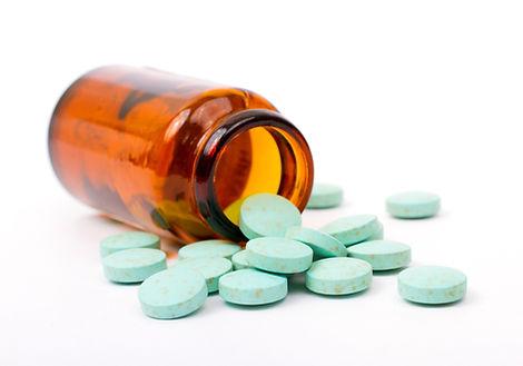 spilled pills from bottle
