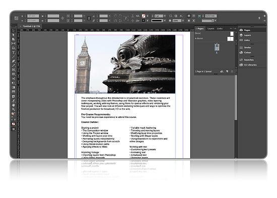 Adobe Indesign Intermediate Training