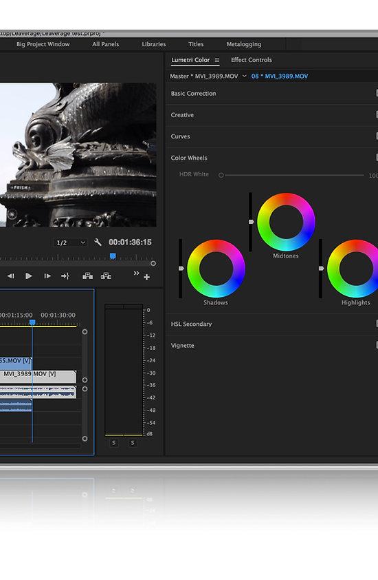Adobe Premiere Pro Colour Correction Lumetri