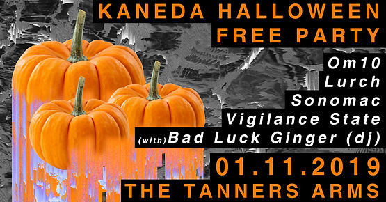 TANNERS halloween free gig cover FB HEAD