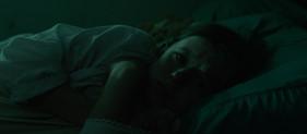 Mathilde in her bed
