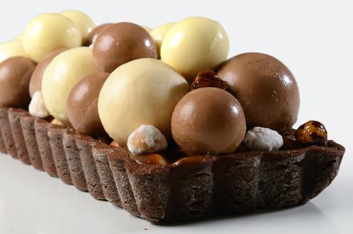 Tarta de Avallanas y Chocolate Esferas