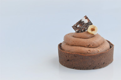 Mini Tarta de Avellanas y Chocolate