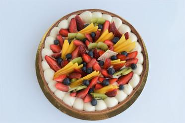 Tarta de Crema Diplomata y Frutas