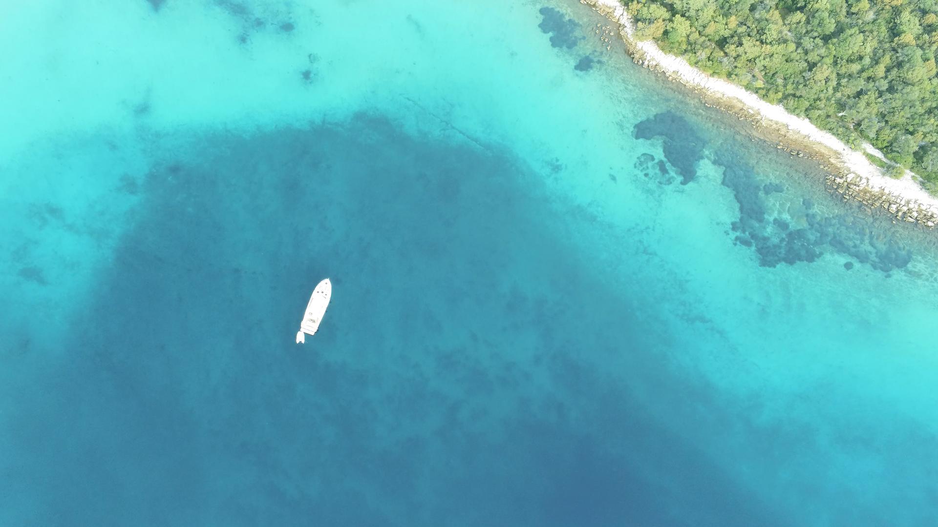 VAIA  HOLIDAY Boot Charter vor Krk  -  perfektes  Wasser -  ein perfekter Urlaubstag -  wie in der Karibik