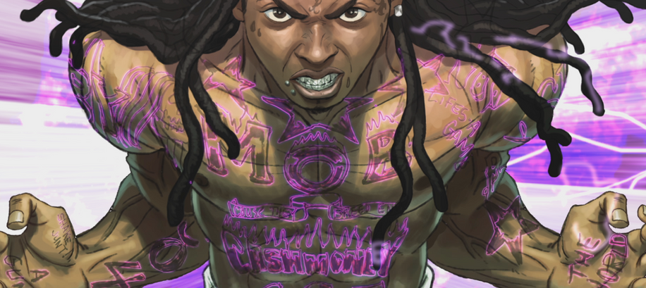 Lil Wayne's tattoos charge up