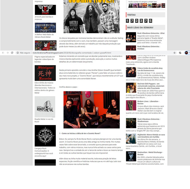 Rock Vibration Website- Commented discography 2018
