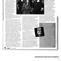 Dynamite Magazine- Interview- 2001- Brasil