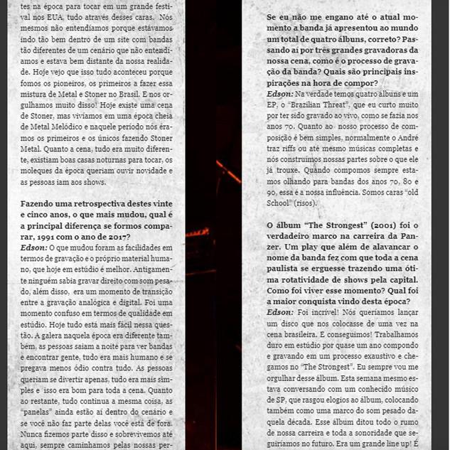 Panzer- Interview Rock Meeting Mag- 2016