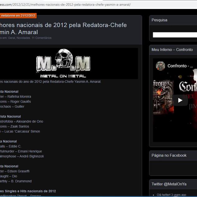 Best drummer from 2012- Metal om Metal website