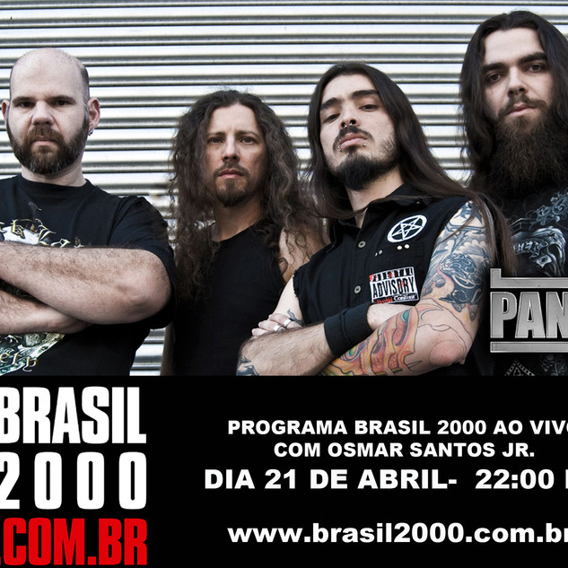 Panzer recording live session at Brasil 2000 Fm- SP- Brasil-2015